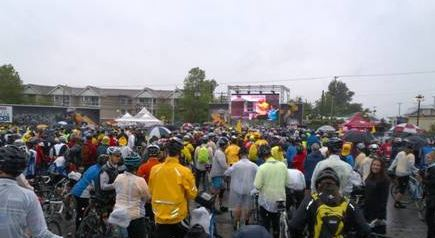 The excitement of getting ready to start the ride! - Enbridge ride to conquer cancer