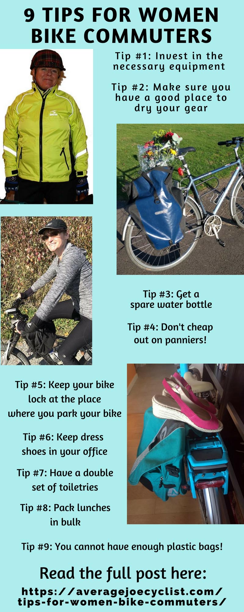 9 Tips for Women Bike Commuters