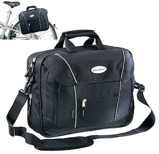 The Deuter bike briefcase looks good on and off the bike