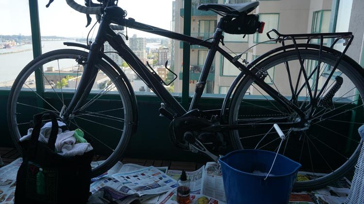 Bike washing just needs basic household items and a bit of space