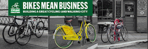 Cover of the new Bikes Mean Business Report
