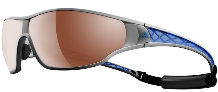 Adidas Ty Pro L 2 Cycling Glasses come with a removable strap that is useful for keeping them in place underneath your helmet (or while rescuing people from rough surf, hang-gliding, or surfing giant waves)