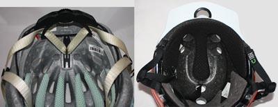 Best Bike Helmet under $80 - Urge Endur-O-Matic Helmet Review. Cradle in Bontrager helmet; not cradle in Urge helmet