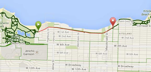 Seaside Greenway map - Average Joe Cyclist
