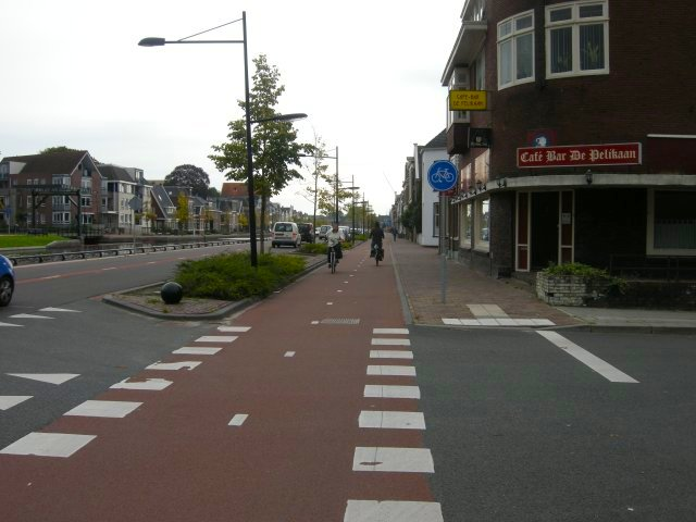 Separate bike lanes are not something to wail about - they are in fact commonplace in the Netherlands