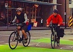 Dunsmuir Street cyclists