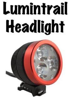 The Lumintrail headlight is the best bike light I have ever used. I would never go out cycling in the dark without mine.