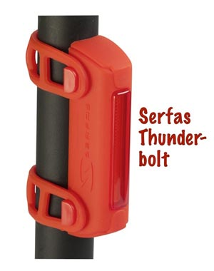 Serfas Thunderbolt rear light is one of my favorite bike lights!