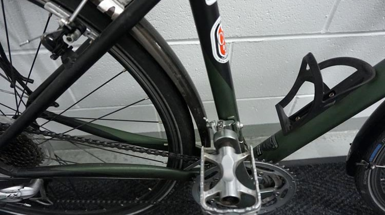 Before I took it home, I had my Specialized TriCross set up with super grippy, strong pedals, for safe cycling in wet weather
