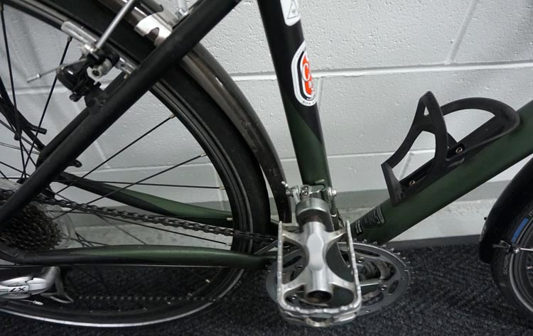 How to set up a commuter bike. Make sure you have strong, non-slip pedals. Before I took it home, I had my Specialized TriCross set up with super grippy, strong pedals, for safe cycling in wet weather