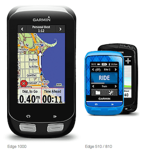 Garmin Edge 1000, 510 and 810