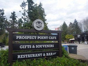 Vancouver cycling - Stanley Park - When you get to the top of Prospect Point, there are all kinds of facilities at Prospect Point