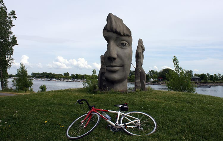 Lachine Canal in Montreal showcases some spectacular art. lachine canal bike path