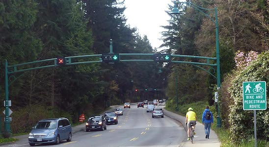 Stanley Park Causeway is not safe cycling infrastructure 2