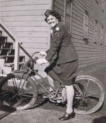 A Private-First-Class of the Women's Army Corp (affectionately called WACS). Bikes in history - Memorial Day