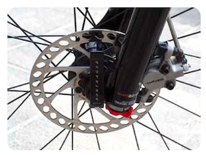 Disc brakes are excellent for wet weather riding - bike terms