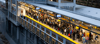 Commercial Skytrain station - like every station, this station is already maxed out at rush hour. The problem will get worse unless we get a Yes vote in the BC Transit Referendum