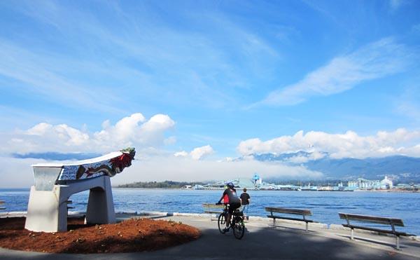 SS Empress figurehead, Stanley Park Seawall Bike trail