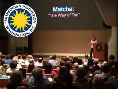 Matcha tea expert Calli O'Brien delivers an address to the prestigious Smithsonian Institute