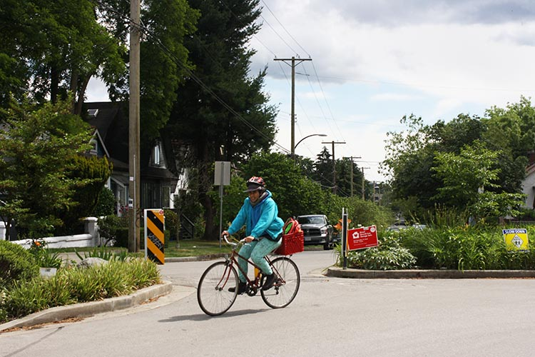 After Broadway, the Central Valley Greenway finally becomes a little bit green too.