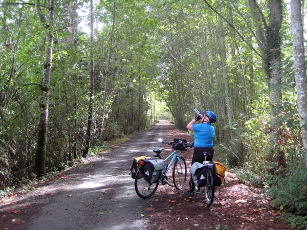 Take plenty of water on the Galloping Goose Trail!