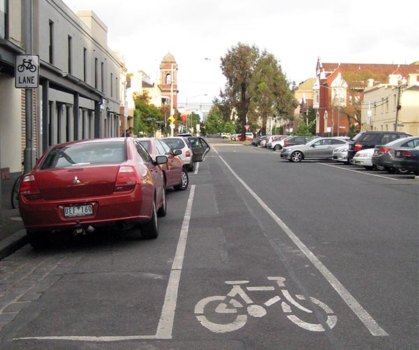 It seemed as if almost every street in Melbourne had a bike lane