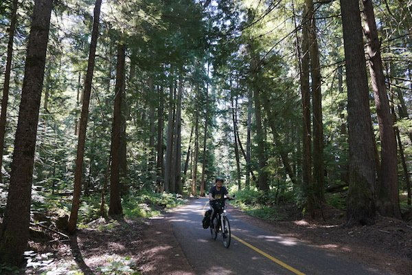 Just past Green Lake you will find one of the most beautiful parts of the Whistler . Whistler Valley Trail – Whistler Village to Green Lakealley Trail, where you can cycle under a canopy of tall trees