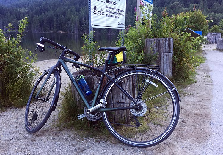 ere is my Specialized Tricross on the morning it took me for a ride along the bumpy, gravelly back roads near Buntzen Lake in Anmore, British Columbia.
