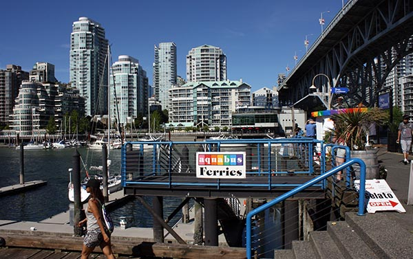 This is the Aquabus dock at Granville Island