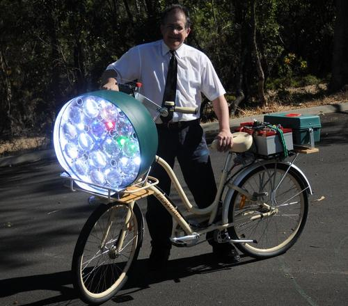 Do you need a bike light THIS big to get motorists to notice you?