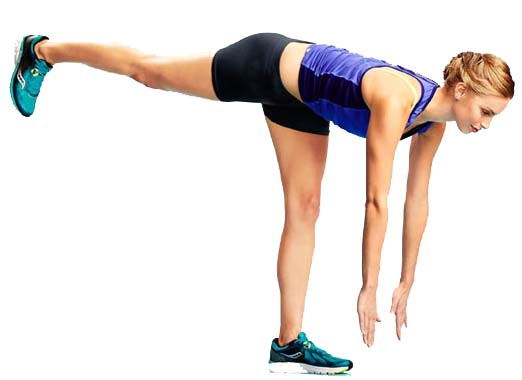 Single leg touchdown exercise - 10 Minute Core Workout for Cyclists