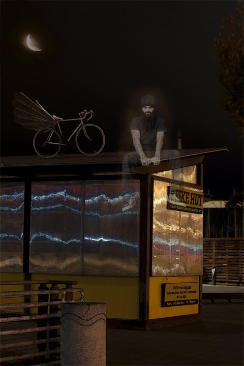 Some ghost bikes are placed inaccessible places, to make it less likely that they will be stolen