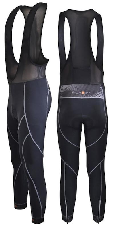 Winter weight bib tights will keep your legs snug, while still allowing you to pedal freely.