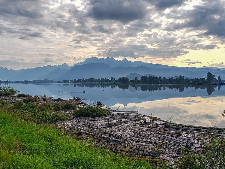 The point is the journey, and the magnificent views. This is the view across the Pitt River from the second viewpoint. Photo courtesy of Alan Wallis