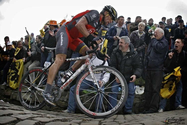 The cyclists who dominate the Tour of Flanders are likely to be at the front of the Tour de France pack. Here's Lance Armstrong competing in the Tour of Flanders