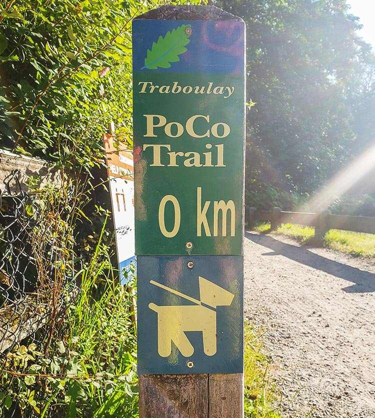 The Poco Trail is dog-friendly and family friendly. Photo courtesy of Alan Wallis
