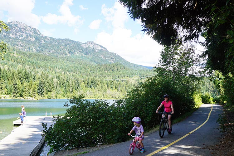 Whistler is not just for winter sports - it also offers world-class cycling of all kinds - including the Whistler Valley Trail