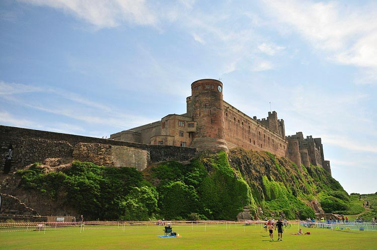 Northumberland's Coast and Castles cycle route is a must. This is Bamburgh Castle. Cycling in Northumberland