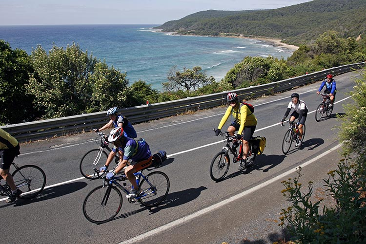 The RACV Great Victorian Bike Ride gives people from all over the world the opportunity to have a cycling vacation with breathtakingly beautiful views.