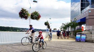 Cycling in New Westminster, BC – New Westminster Quay