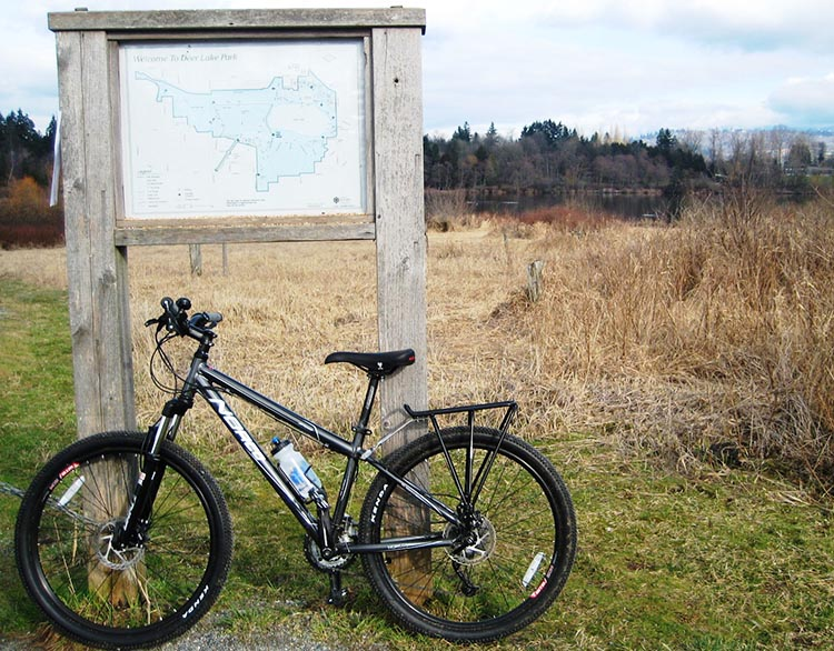 Deer Lake Park Bike Trails in Burnaby, BC, Canada - Guide plus Videos. There are sign posts and maps in Deer Lake Park to help you orient yourself. Deer Lake Park Bike Trails in Burnaby, BC, Canada