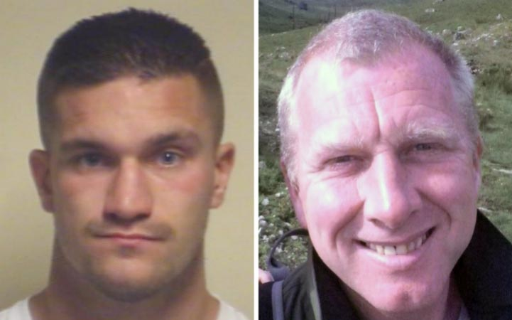 Van driver Christopher Gard, left, killed cyclist Lee Martin, right, while driving a van at high speed and simultaneously texting. Gard had 8 previous convictions for texting while driving - but he had promised the magistrate he would never do it again ... (Credit: PA / Hampshire Police)