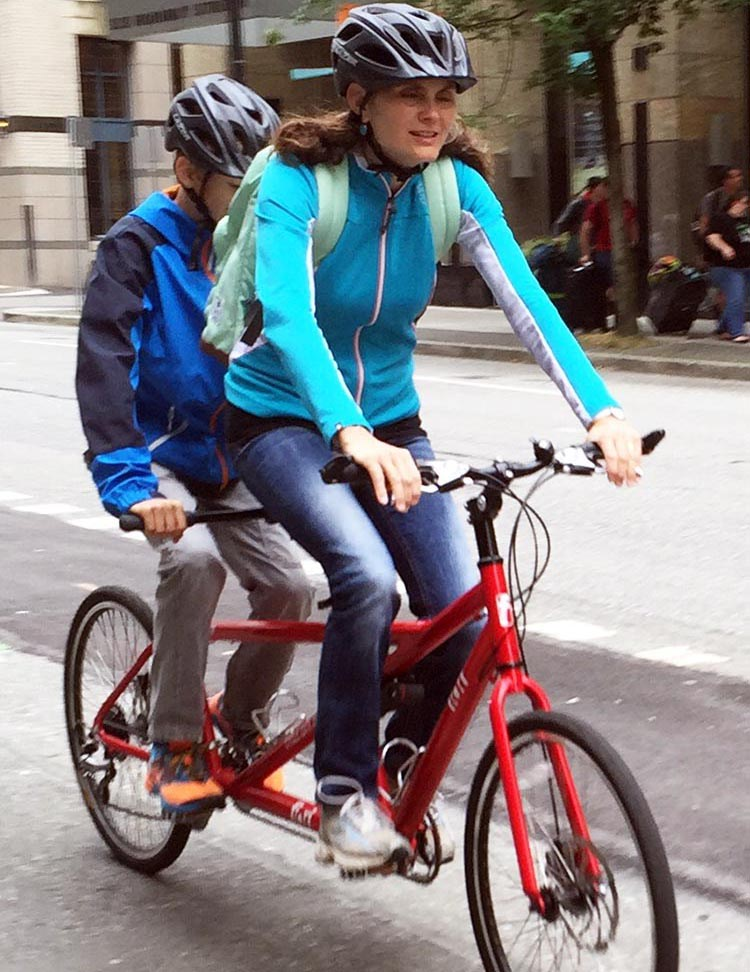 At some point your child will get old enough to share a tandem with you - and if you are very lucky, he or she will still want to! - how to safely transport kids on bikes