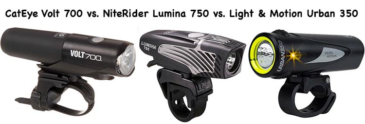 When to Use Flashing Bike Lights. Click here for our review of 3 of the best bike lights light-motion-350-vs-volt-700-vs-niterider-lumina-750-bike-lights