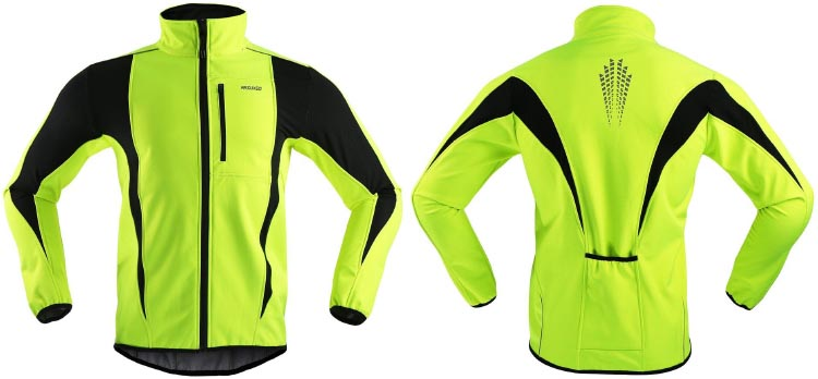 Best Windproof Cycling Jackets: ARSUXEO Winter Warm UP Thermal Windproof Cycling Jacket