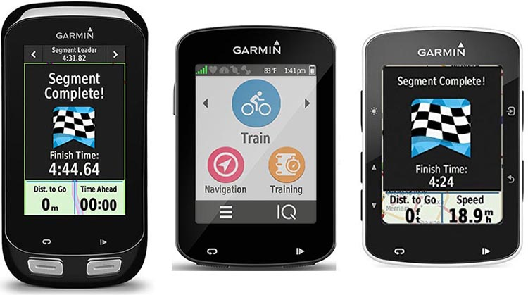 Garmin Edge 1000 vs 820 vs 520 GPS bike computers - which one is right for you? In the graphic above, left to right, are the Garmin Edge 1000, Edge 820, and Edge 520