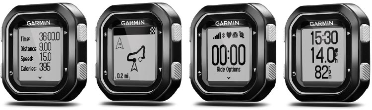 The Garmin Edge 25 offers an amazing amount of data and options. You can also create up to two different custom screens to highlight the data you find most useful