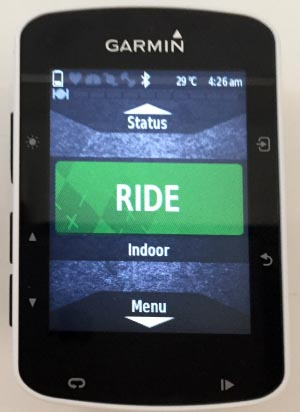 The Garmin Edge 520 has a beautiful color screen. Garmin Edge 520 review
