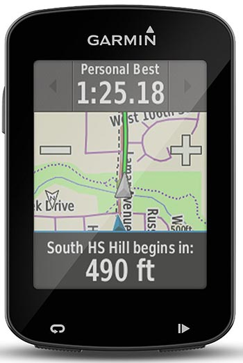 You can motivate yourself to cycle faster by using Garmin Connect Real-Time segments or Strava segments on the Garmin Edge 820