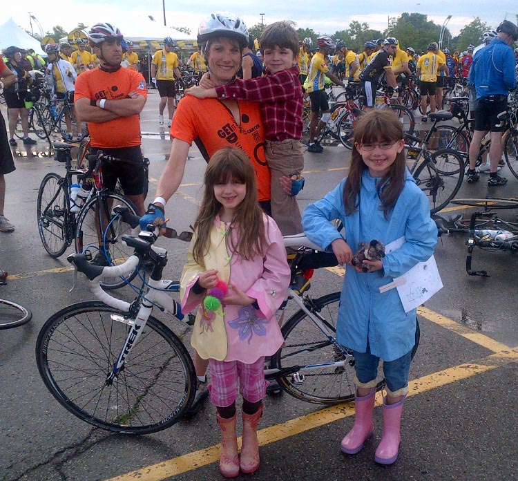 Karen Enbridge has three kids – two girls and one boy – ages 14, 12 and 10. They are BIG supporters of her participation in the Enbridge Ride to Conquer Cancer benefiting Princess Margaret Cancer Centre